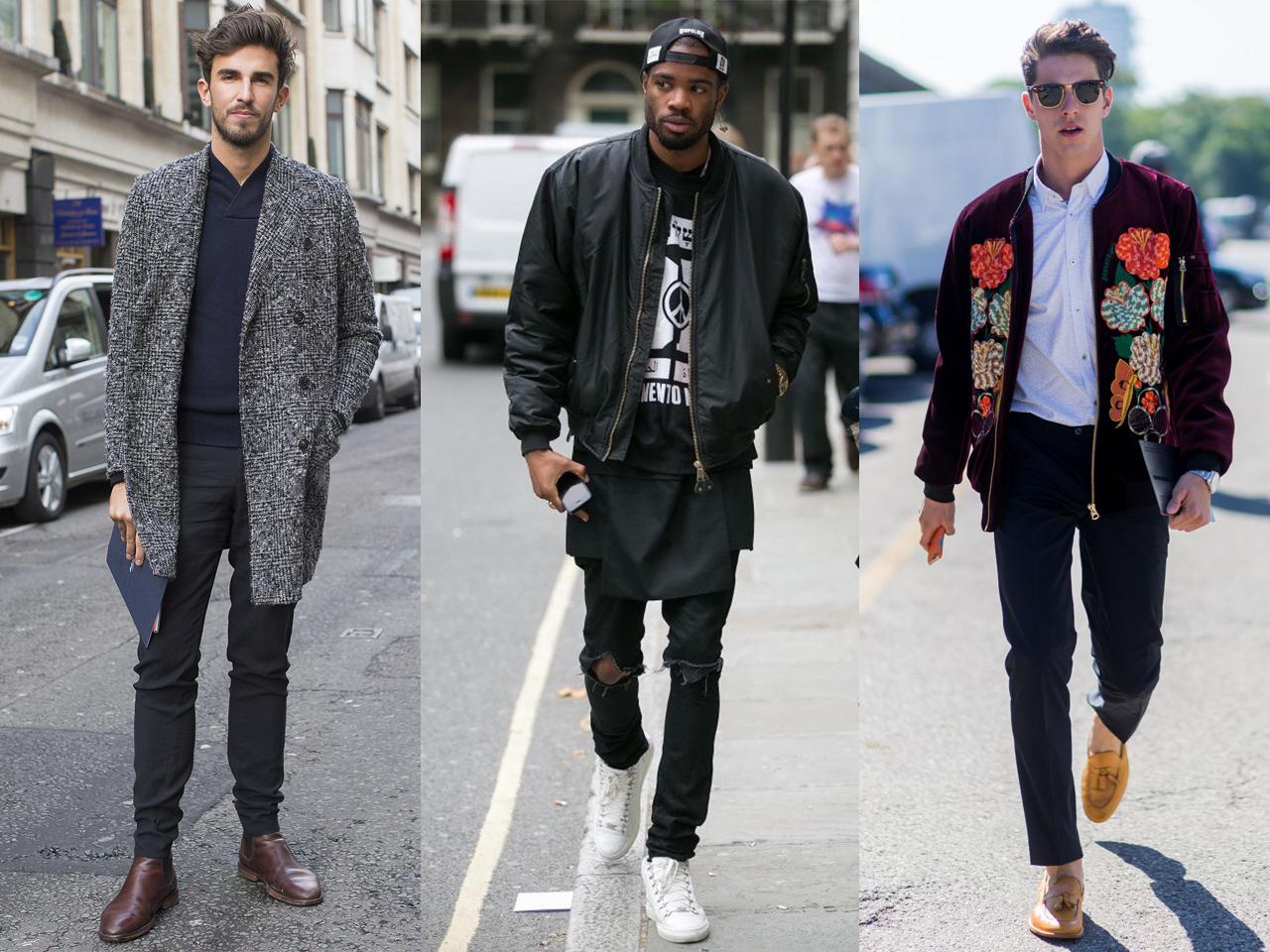 89a134b56 Moda Masculina: Tendências para 2017. 3 homens usando diferentes looks