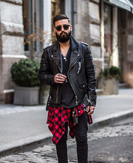 jaqueta com camisa xadrez